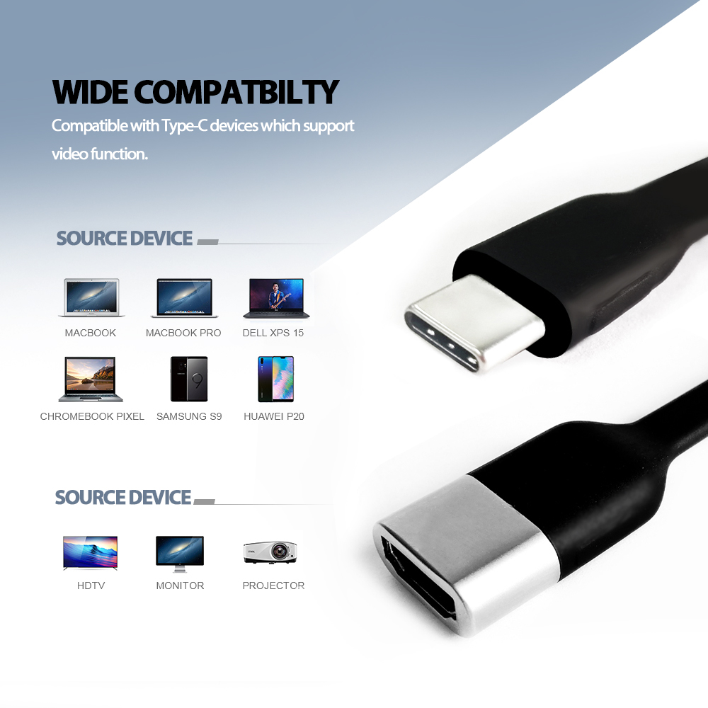Image 3 - Vmade Newest Mini Type C USB C to HDMI Adapter Supports 4K 30Hz HD Signal Transfer USB 3.1 for TV/Monitors/Projectors Converter-in USB Hubs from Computer & Office