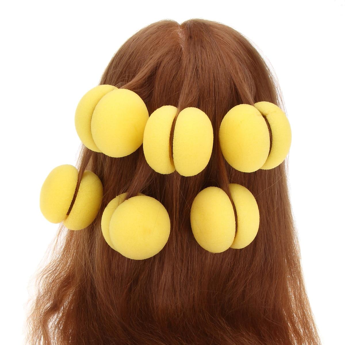 6pcs/set Magic Sponge Hair Curler Rollers Beauty Hair Care ...