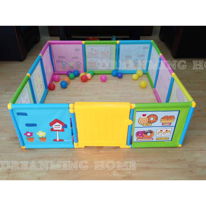 Baby Playpen  Kids Fence Playpen Plastic Baby Safety Fence Pool > 6 Months  Like This Have Space For An Actual Playroom скейт sulov neon pink