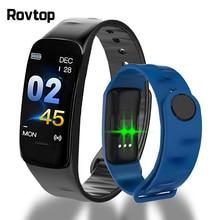 Rovtop c1plus inteligente pulseira de fitness pressão arterial c1 mais inteligente esporte smartband monitor freqüência cardíaca pulseira