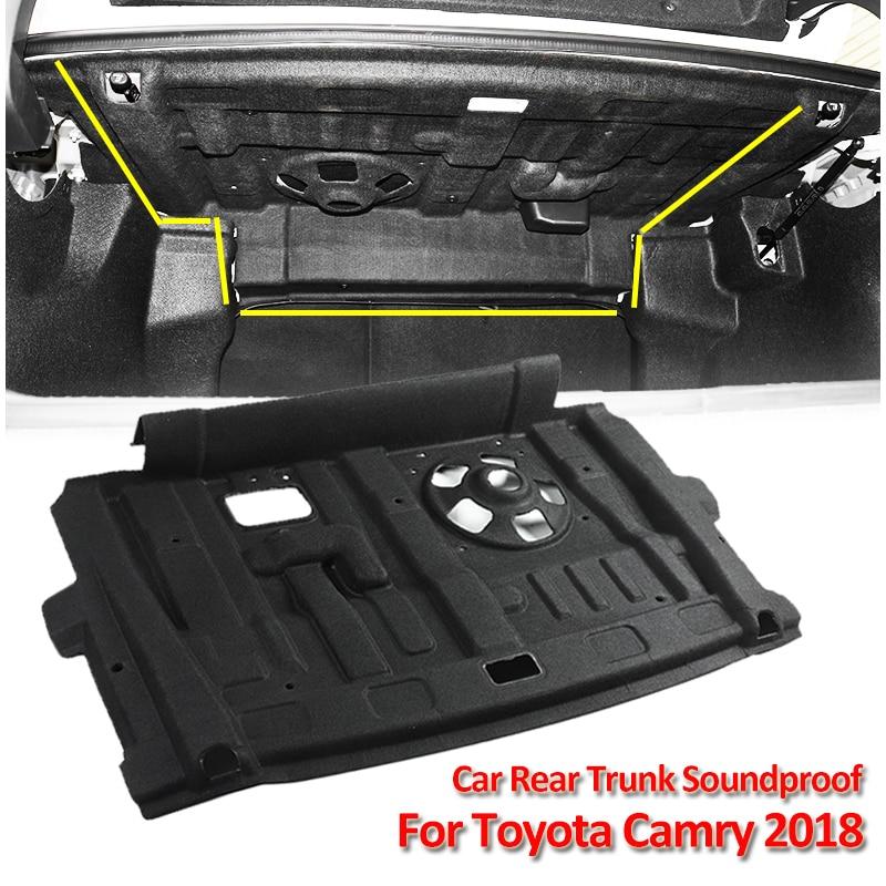 Panneau insonorisé de coffre arrière de voiture en PVC isolation phonique et thermique tapis de protection en coton pour Toyota Camry 2018