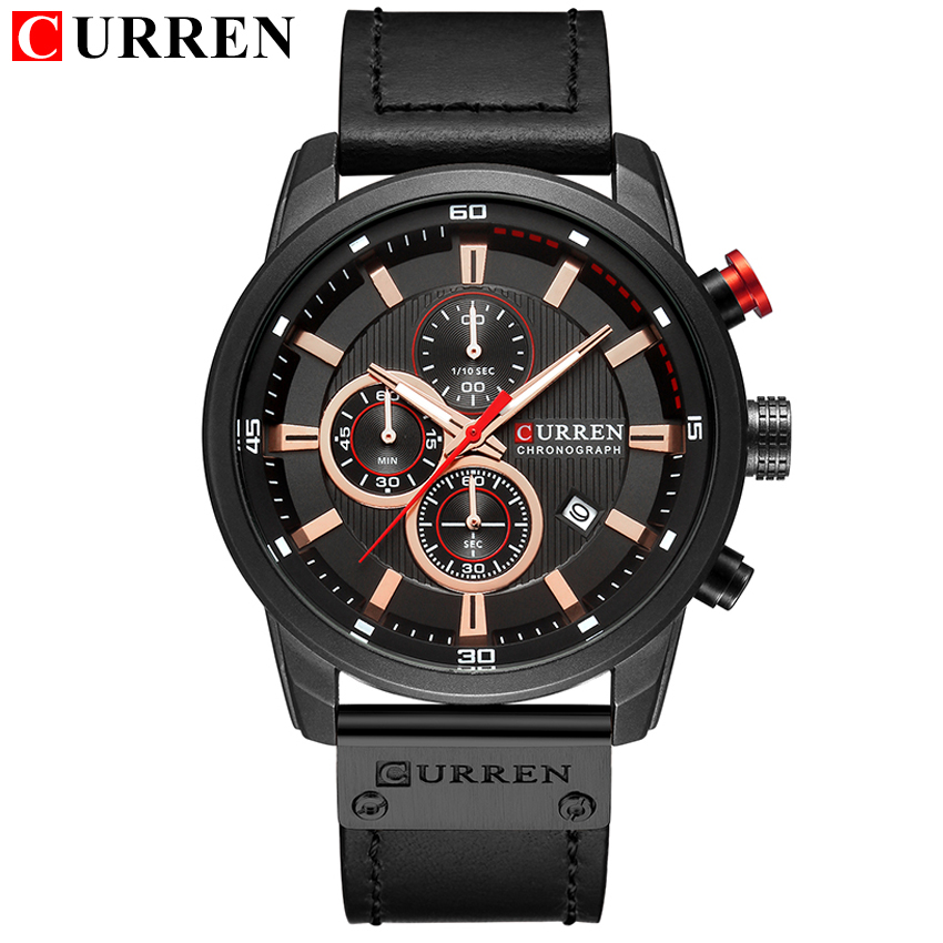 HTB1 VGGpKuSBuNjSsziq6zq8pXas Top Brand Luxury Chronograph Quartz Watch Men Sports Watches Military Army Male Wrist Watch Clock CURREN relogio masculino
