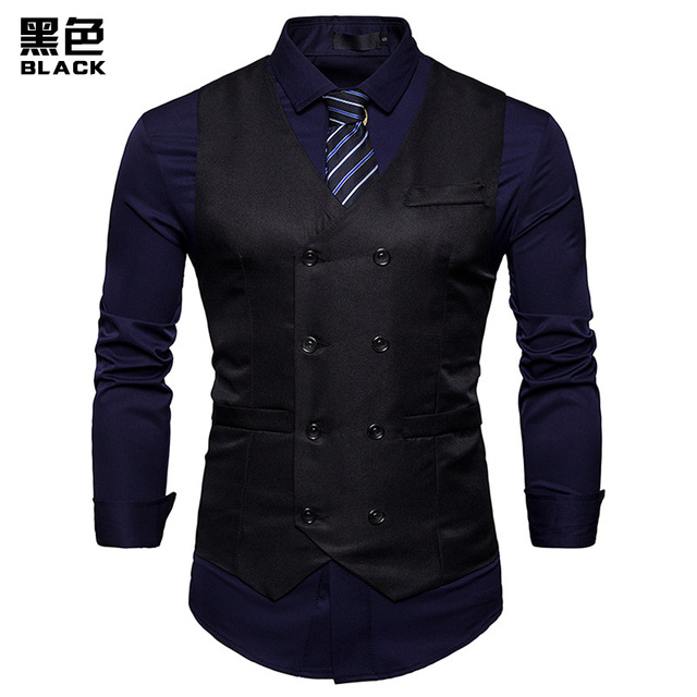 Double Breasted Suit Vest