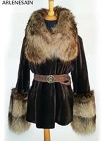 Arlenesain на заказ роскошное стриженое меховое Женское пальто из норки