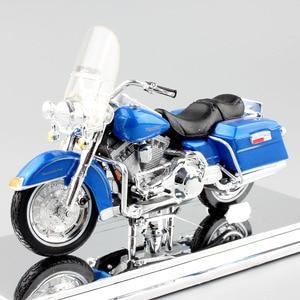 Image 5 - 1/18 skala dzieci maisto mini FLHR Road King odlewany metal model krążownik motocyklowy pojazdy turystyczne zabawki rowerowe dla dzieci
