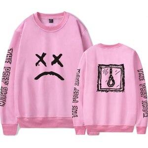 Мужская розовая толстовка Lil Peep, пуловер в стиле хип-хоп с принтом звезд рэпа, парные кофты, брендовая одежда 4XL
