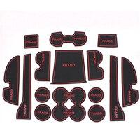 For Toyota Prado FJ150 2010 2015 Non Slip Door Panel Mat Cup Holder Rubber Pad Car