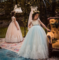 Rose Gold Sequins Blush Tutu Flower Girls Dresses Puffy Tulle Little Kids First Birthday Dress Pageant Party Gown Any Size