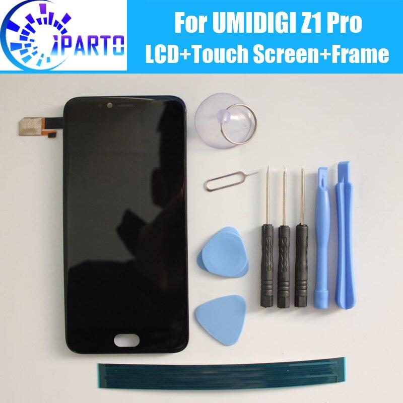 UMIDIGI Z1 Pro Display LCD + Touch Screen Digitizer + Telaio di Montaggio 100% Originale Nuovo DISPLAY LCD + Touch Digitizer per UMI Z1 Pro + Strumenti