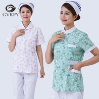 Short sleeved Scrubs Medical Uniforms Women Summer Hospital Surgery Gown Beauty Salon Pharmacy Dental Clinic Nurse Uniform Suit