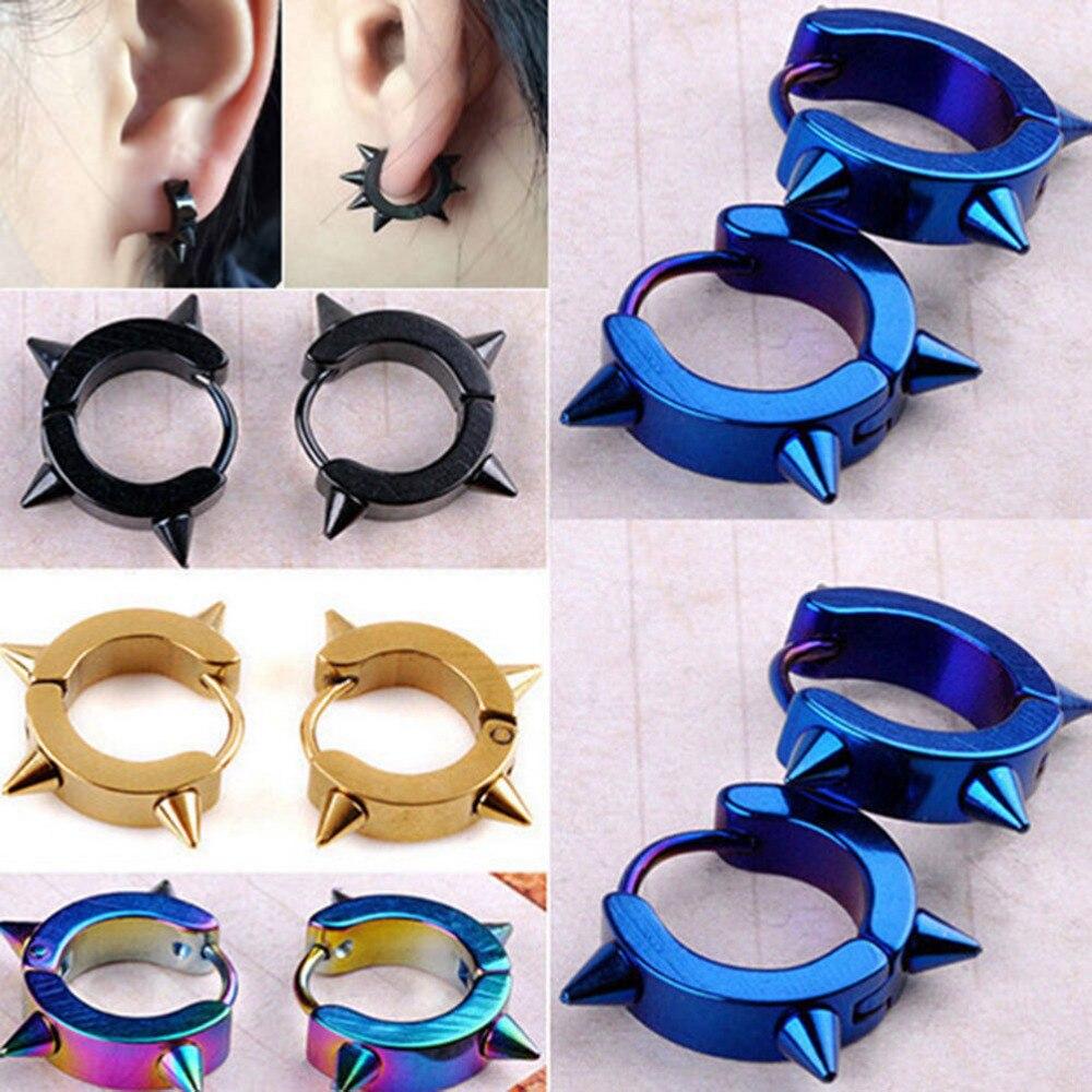 Stud-Earrings Spike Male Jewelry Female 316l-Stainless-Steel Black Women Wholesale Rivet