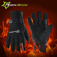 RockBros Winter Cycling Gloves Long Finger Men Mtb Motorcycle Gloves Windproof Warm Thermal Gloves Bike Bicycle
