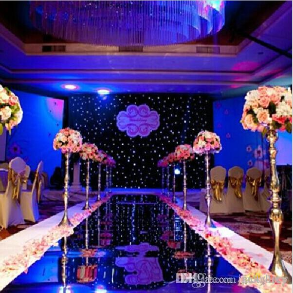 1.2m X 20 m/roll Fashion Silver Mirror Carpet Aisle Runner For Wedding Party Backdrop Decoration Supplies