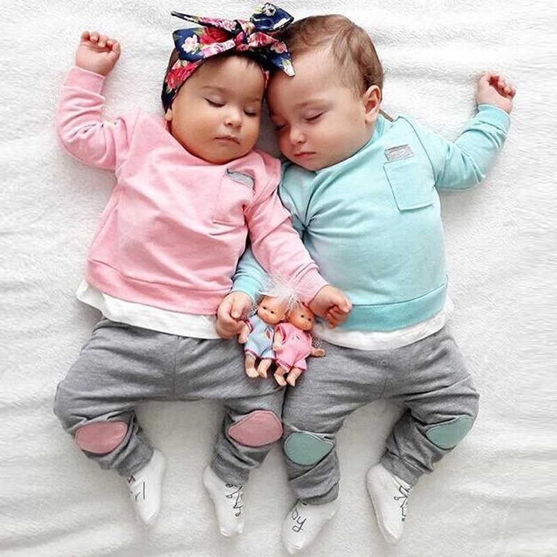 Одежда для маленьких девочек сезон осень зима Модный комплект одежды мальчиков