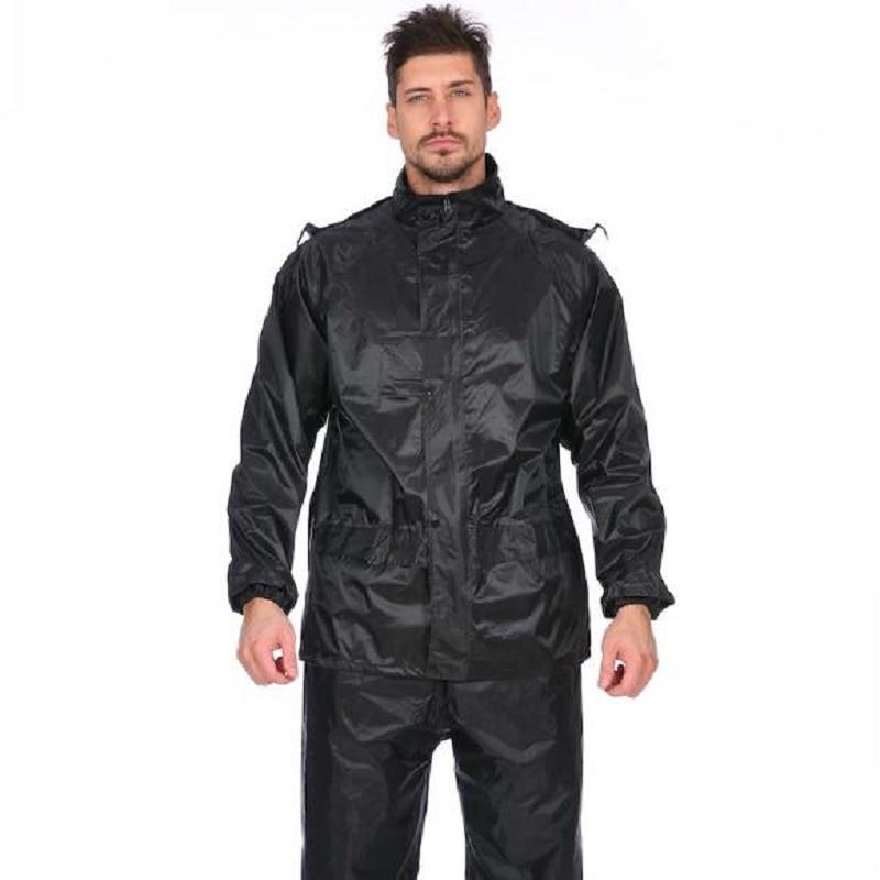 b0ebb81a94c 2018 Fashion men Raincoat Adult Hiking Rainwear Rain Pants motorcycle  Waterproof Windproof Raincoats Suit Tops+