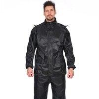 2018 Fashion men Raincoat Adult Hiking Rainwear Rain Pants motorcycle Waterproof Windproof Raincoats Suit Tops+Pants