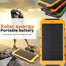 8000 мАч большой емкости солнечной энергии банк мульти-USB выход портативный светодиодный внешний аккумулятор зарядное устройство для iPhone samsung Xiaomi