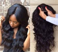 brazilian sufia hair wigs body wave style hair product natural black color 130% desnity full lace  wigs