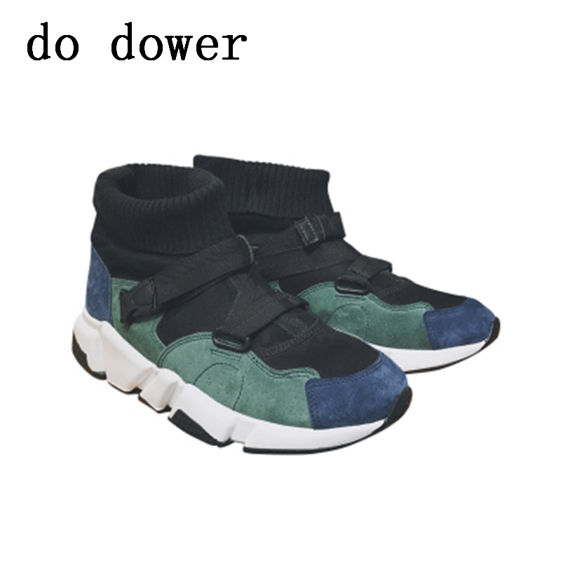 Summer Male Adult Knitting Patchwork Shoes Spring Young Shoes New Men Fashion Trainers Sock Breathable Casual Tide Ankle Shoes zeacava new summer breathable casual sports tide shoes men s shoes