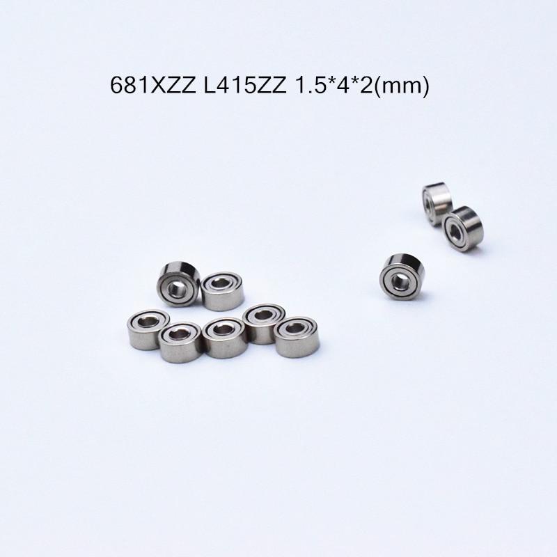 681ZZ 1.5*4*2 Mm Bearing 10pcs Metal Sealed Miniature Mini Bearing 681 681ZZ  Chrome Steel Deep Groove Bearing