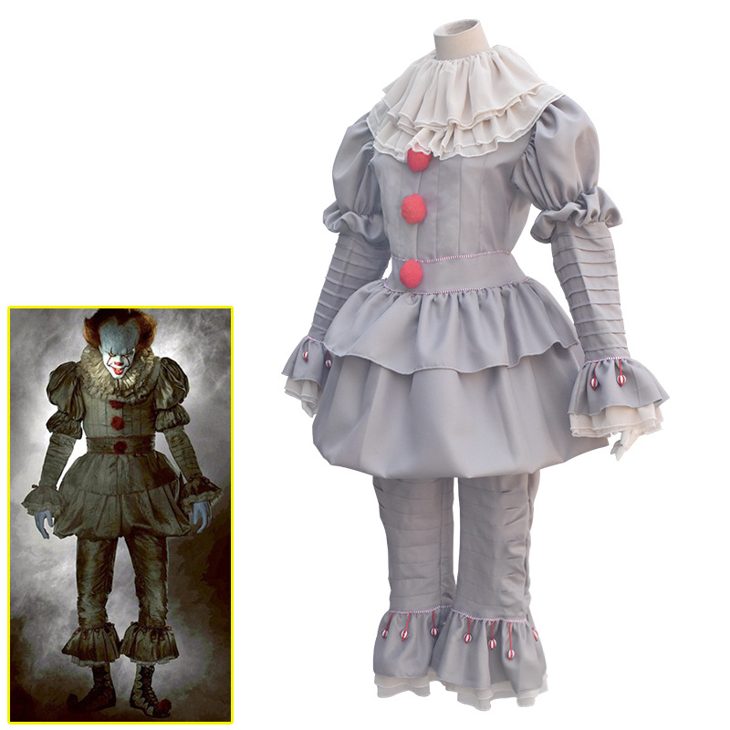 Stephen King It Cosplay Costume Pennywise Costume Clown Costume Halloween Joker Evil Horror Hallowmas Suit Outfit for Men