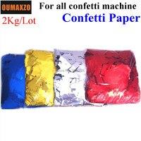 2Kg/lot Rectangle Shape Gold Silver Corlorful Confetti Paper For Confetti Cannon Machine Confetti Machine Stage Effect