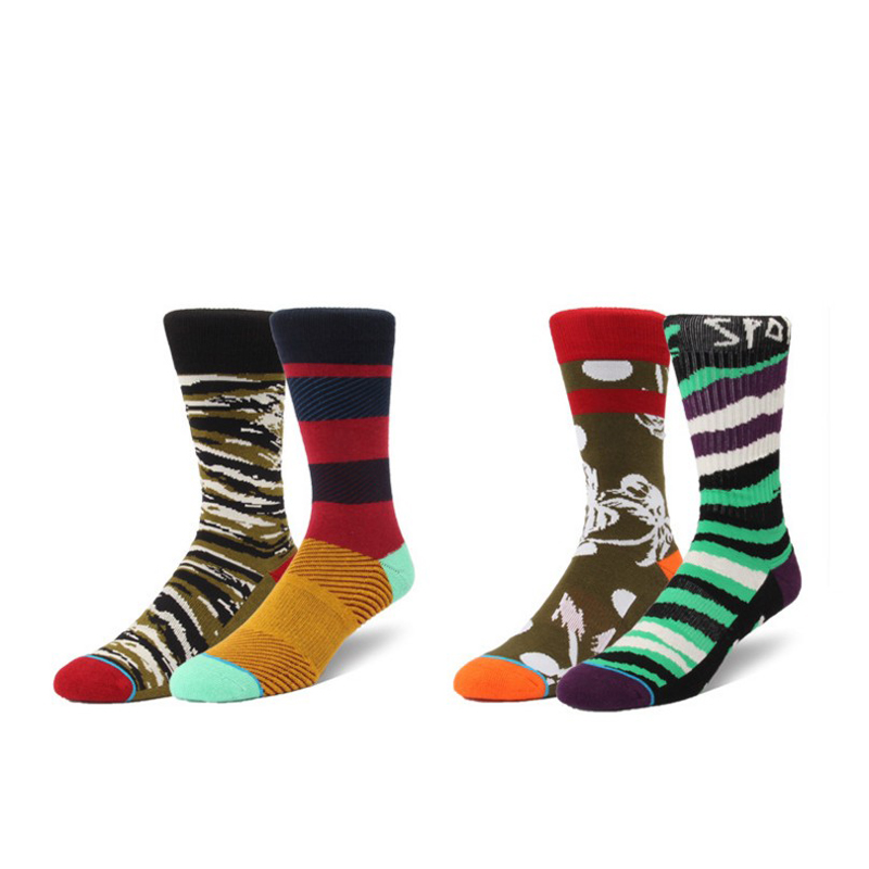 Calcetines Hombre Standard Cotton Casual High Quality Socks, Colorful Clothes Socks FUNNY HAPPY MEN AND WOMEN SOCKS CREW 2018