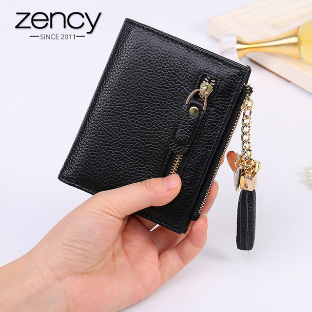 European and American Style 100% Genuine Leather Fashion Women Short Wallet Mini...