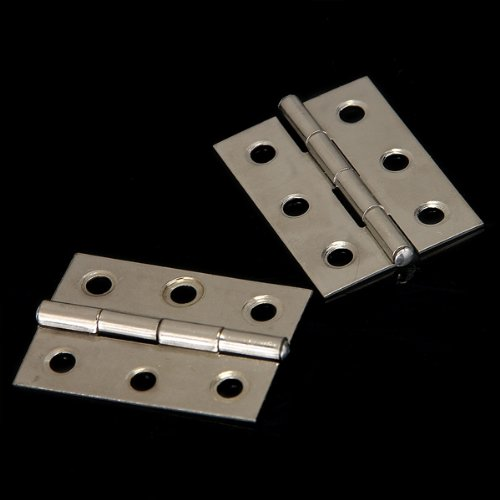 FSLH 2pcs Stainless Steel 2 Inch 4.4x3.1cm Cabinet Door Hinges Hardware 2pcs set stainless steel 90 degree self closing cabinet closet door hinges home roomfurniture hardware accessories supply