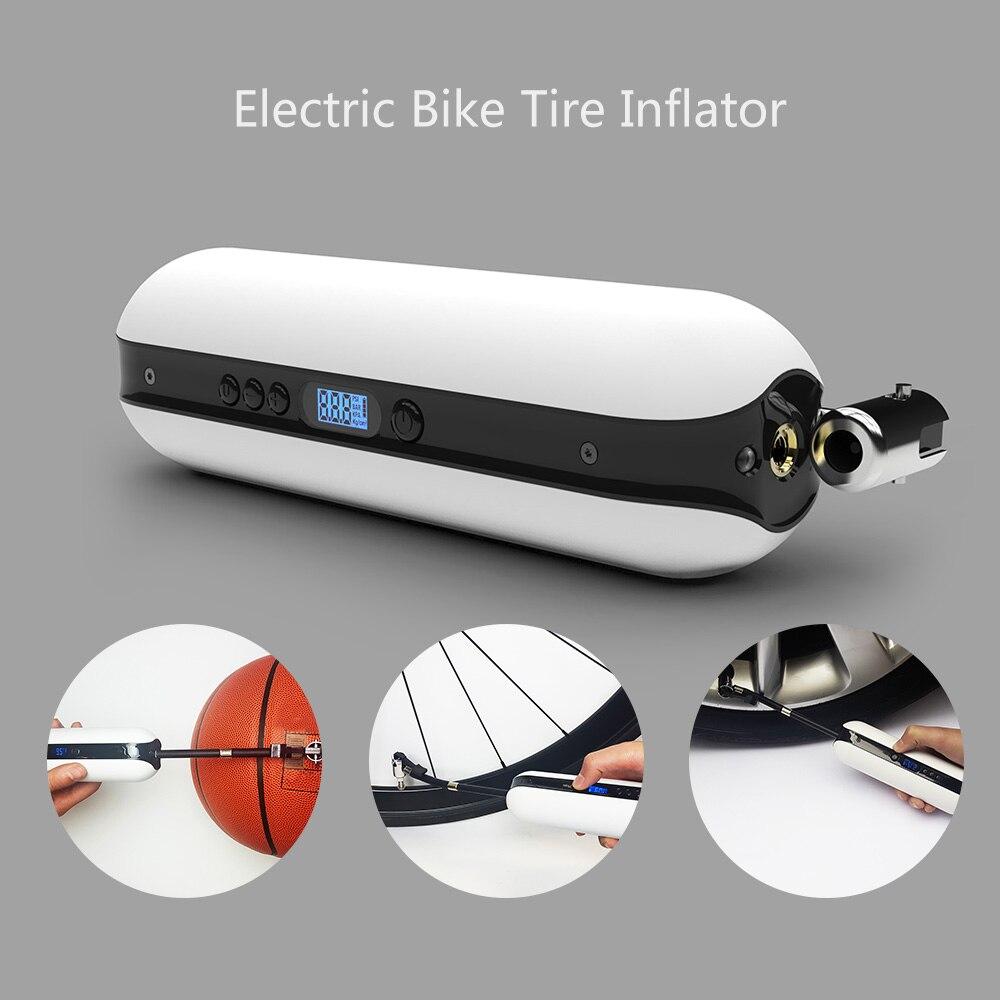 Pompe à vélo multifonctionnelle avec manomètre électrique Rechargeable sans fil pompe à main vtt vélo de route voiture pompe à Air batterie externe