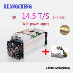 Старый 80--90% добыча BITMAIN antminer S9 14,5 T с БП Bitcoin шахтера Asic S9 14 T 13 T шахтер работы BCC btc pcc sha256 16nm Btc шахтер