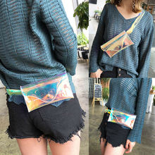 2019 Newest Hot Fashion See Through Transparent Fanny Waist Pack Women Chest Bag Purse Clear Laser Small Size PVC transparent