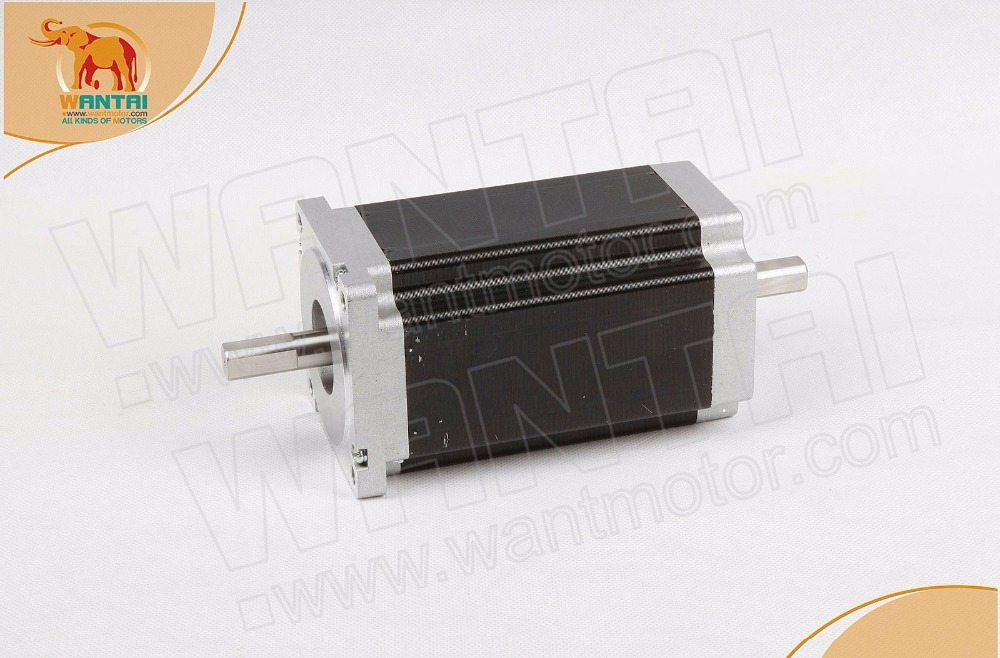 DUAL SHAFT OF NEMA34 MOTOR 1600OZ-IN CNC CUTTING Wantai Stepper Motor 3.5A Nema34 85BYGH450C-012B ,Dual shaft