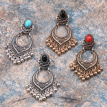 Women Metal Vintage Tassel Earrings Fashion Jewelry Boho Carved Ancient Drop For