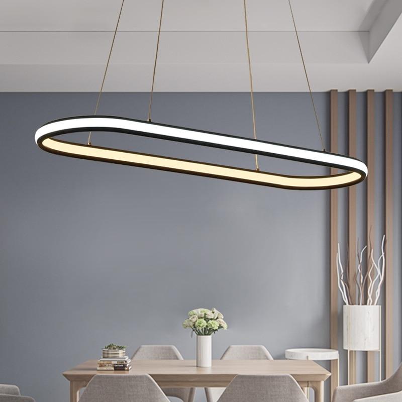 Пост-Современный Творческий Двусторонняя светодиодный Люстра Гостиная Ресторан Спальня исследование офиса кафе светильники