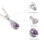 DOUBLE-R 1.6 ct Natural Ametista Pingentes Oval Prata 925 Colar Feminino Clássico Presente Mãe Real de Luxo Marca de Jóias Novo