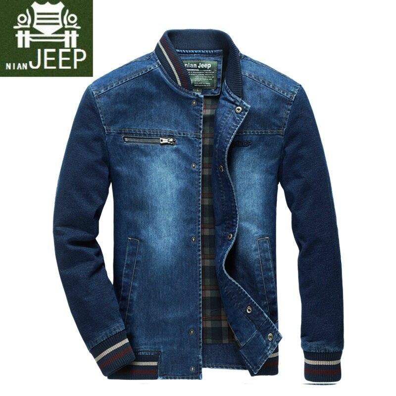 Fashion Retro Denim Jackets Mens Jeans Coats Spring Autumn