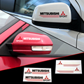 2 X Reflective Car Rearview Mirror Sticker and Decal for mitsubishi lancer outlander pajero