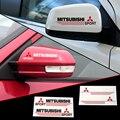 2 x espelho retrovisor do carro adesivo refletivo e adesivo para mitsubishi lancer outlander pajero
