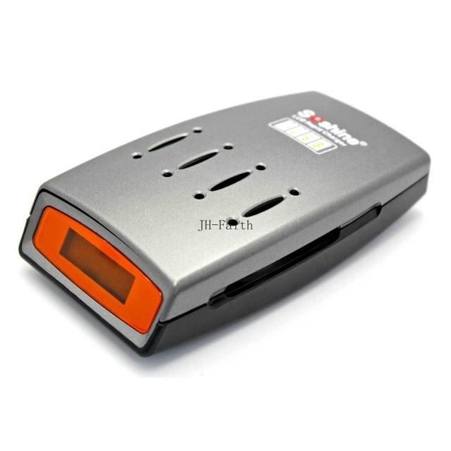 Soshine C3 AC 100 ~ 240 V 50/60 HZ DC 1.4 V LCD indicador de carga Automática AA/AAA Ni-MH Ni-cd Cargador de Batería con 4 Ranura 250 V
