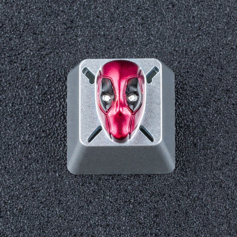 3D Transparent Deadpool ESC Aluminum Alloy Keycap for Cherry Switch Mechanical Keyboard 3 Times Anode