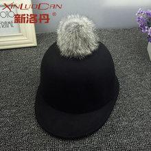 9fb8eeae23a6b Baby Bucket Hats Fedora Kid Hat Cute Winter Solid Color Wool Felt Fedora Hat  Girl Boy Kid Children Derby Bowler Cap With Hairbal
