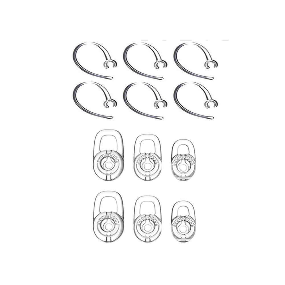 a223cf9441b EKIND SET 6pcs SML Earbuds 2pcs Good Earhooks for Plantronics Voyager Edge  Mobile Bluetooth Earclips Headset