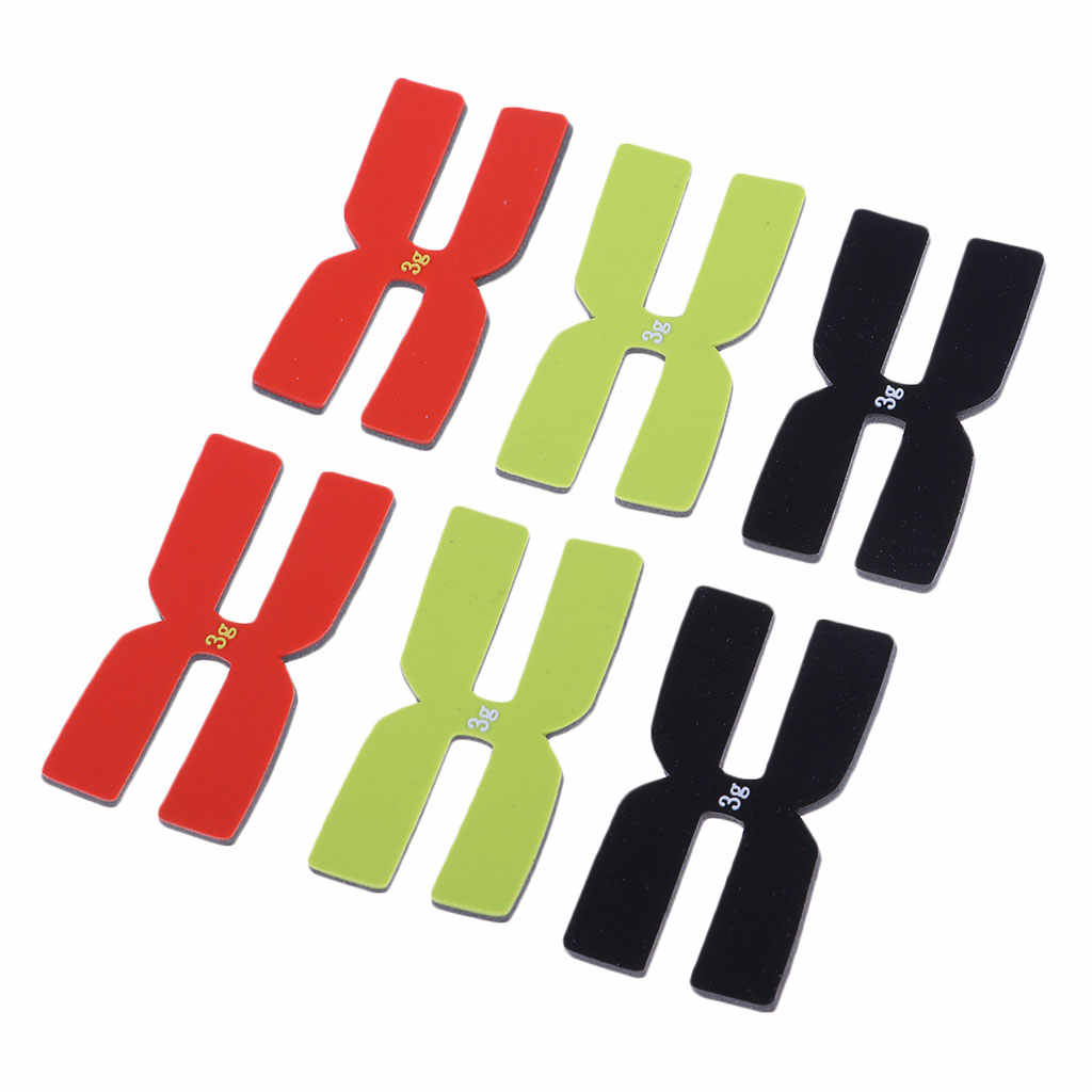 6Pcs/Set Tennis Racket Weight and Balance Strips Racquet Balancer Tape H-Shaped 3g Silicone Balance Bar