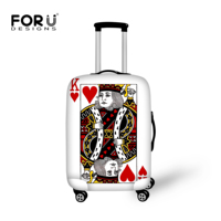 FORUDESIGNS Poker Printing Case Cover Luggages Protective Cover For 18 30 Inch Trunk Trolley Cases Elastic