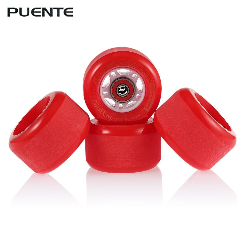 PUENTE 4pcs/set Skateboard Truck Wheel Shock Resistant Cruiser Skateboard Wheels Durable High-quality PU Longboard Wheels