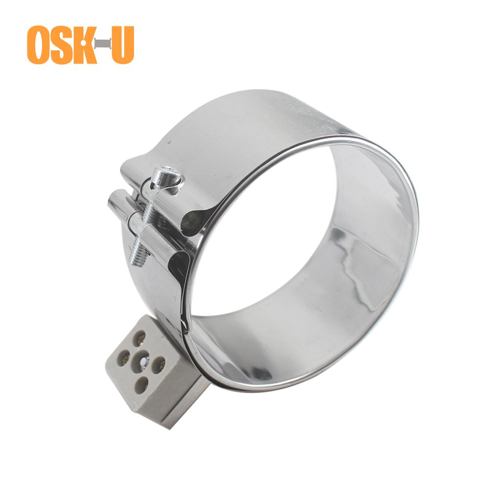 Band Heater Ceramic 90mm ID 50/55/80/90/100mm Height Stainless Steel Electric Heater Element For Electronic Equipment