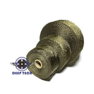 Image 5 - 15 M/50ft Auspuff Wrap Für Motorrad Auspuff Rohr Header Auspuffrohr Wrap Wrap T 6 Pcs kabel Krawatten