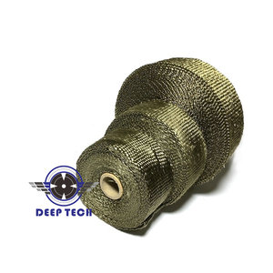 Image 5 - 15M / 50ft  Exhaust Wrap For Motorcycle Exhaust Muffler Pipe Header Exhaust Pipe Wrap Heat Wrap T 6 Pcs Cable Ties