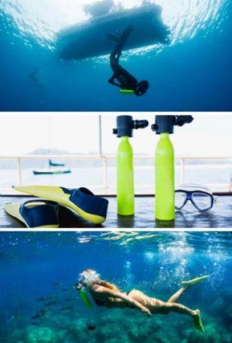 Équipement de plongée Mini Plongée sous-marine Cylindre D'oxygène Plongée Sous-Marine Réservoir Sous-Marine Respiration Adulte Équipement De Natation - 3